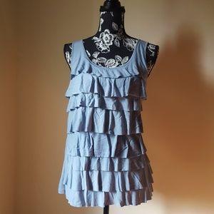 Liz Claiborne Light Blue Layered Top